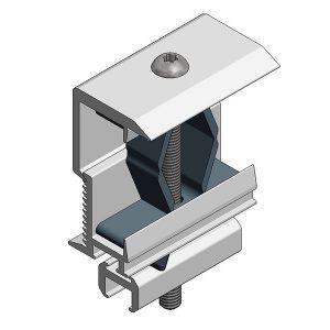 Van der Valk Producten bij Solartoday - Fotovoltage - verbindings- en bevestigingselementen - Alu eindklem alu profiel 28-50mm