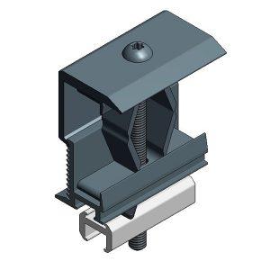 Van der Valk Producten bij Solartoday - Fotovoltage - verbindings- en bevestigingselementen - Alu eindklem alu profiel 28-50mm - zwart