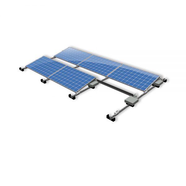 Van der Valk Producten bij Solartoday - Fotovoltage - verbindings- en bevestigingselementen - Alu achter voet ValkPro+ L10° zijkant