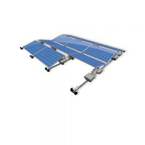 Van der Valk Producten bij Solartoday - Fotovoltage - verbindings- en bevestigingselementen - Alu achter voet ValkPro+ L15° zijkant